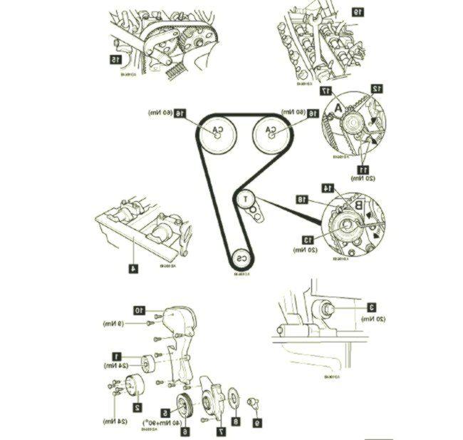 Ford Fiesta Duratec 7 engine diagram #diagram #duratec #