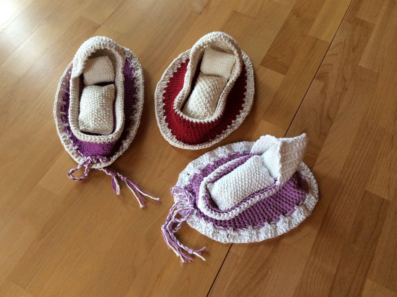 Puppenbettzaubersäckchen Haekeln Baby Knitting Patterns Baby