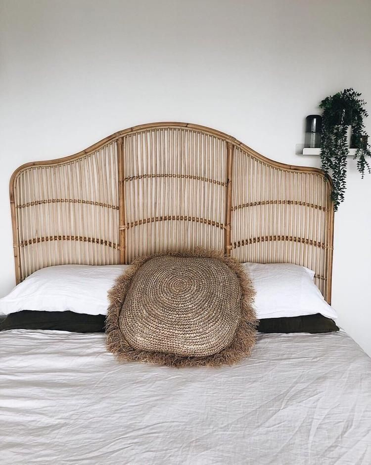 King Rattan Headboard Rattan Headboard Queen Bed Dimensions