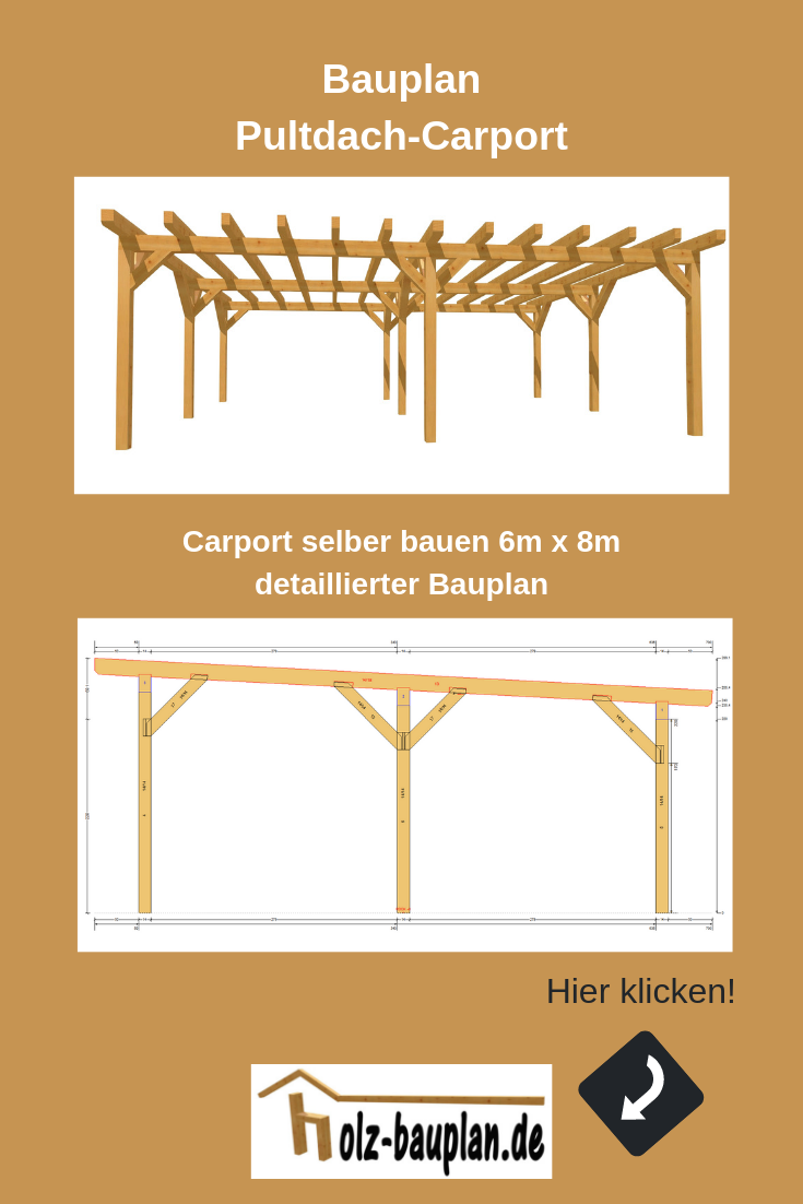Carport Bauanleitung Carport Carport Selber Bauen Pultdach