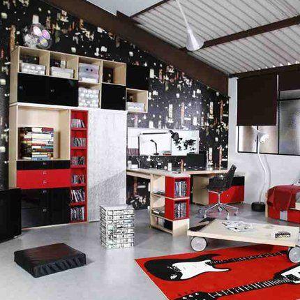 15++ Deco chambre ado rouge et noir ideas in 2021