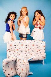 Sofa for children nursery, children furniture, child stool VELVET baby room child room furnit… Baby room