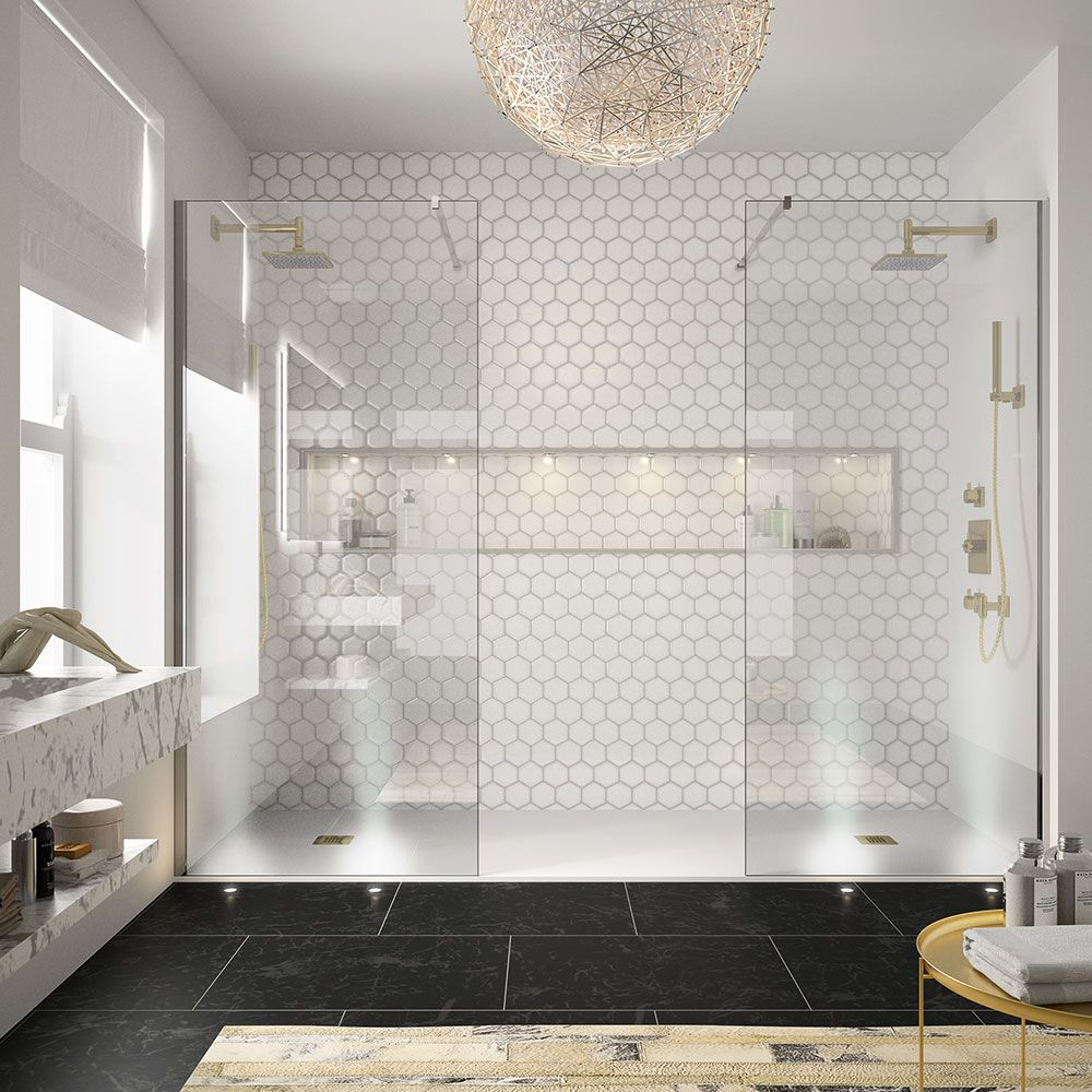 Bathroom design ideas: choose walls, ceiling, layout - 70 photos 30