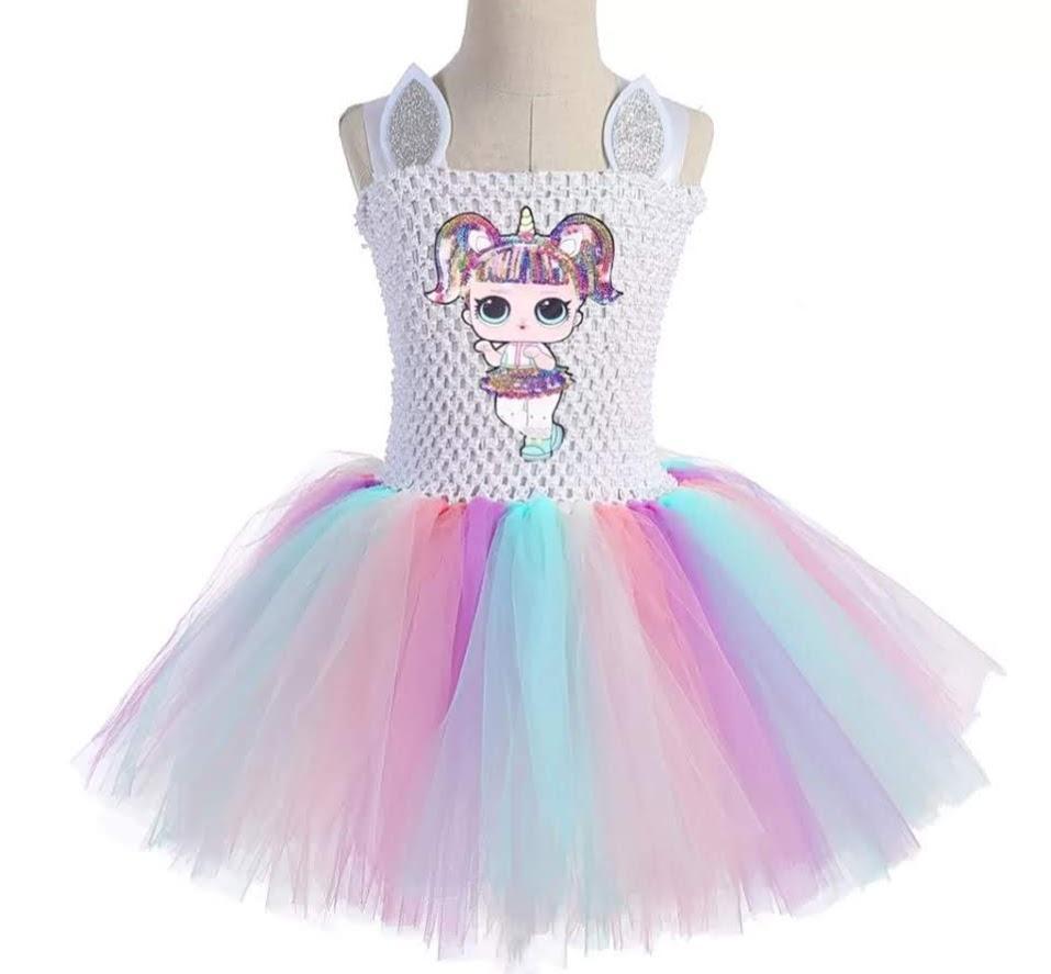 f1cfa8d530c Surprise Doll Unicorn LOL Tutu Dress Confetti or Diva Gown s Girls Toddler  Kids  Birthday Party