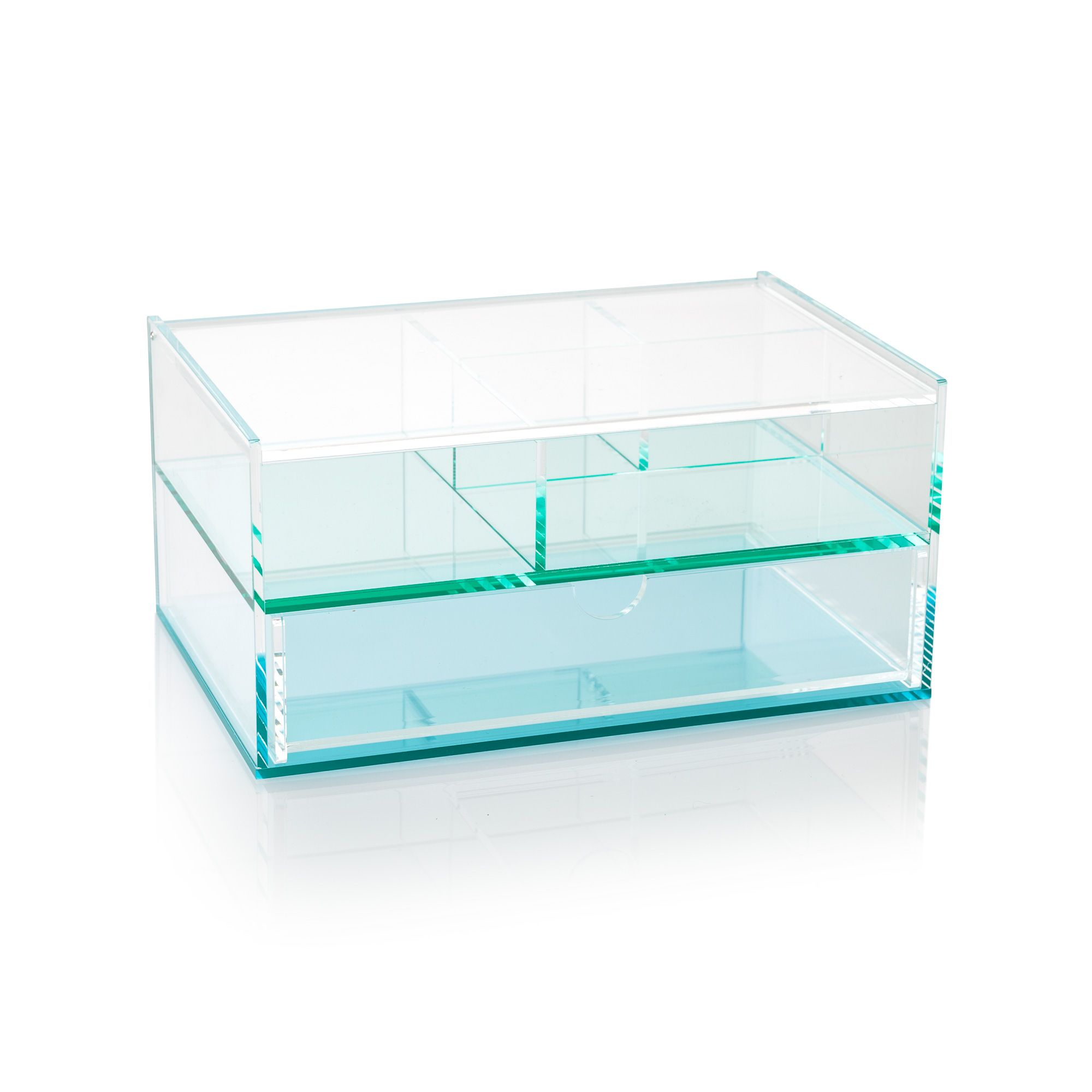 Buy The Blue Acrylic Storage Box With Drawers At Oliver Bonas. Enjoy Free  UK Standard