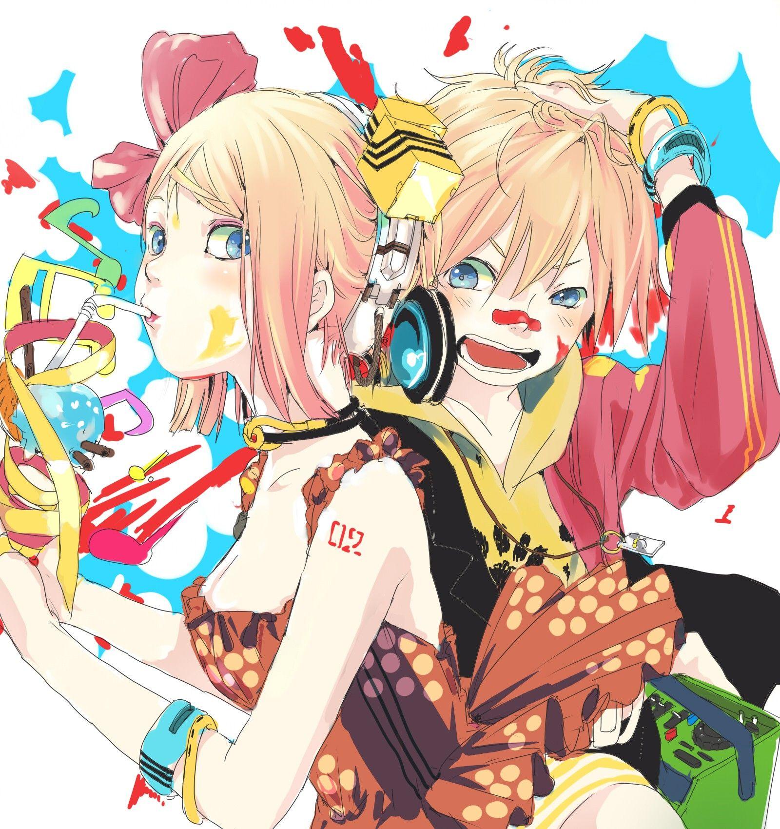 Vocaloid twins Kagamine Rin Kagamine Len wallpaper