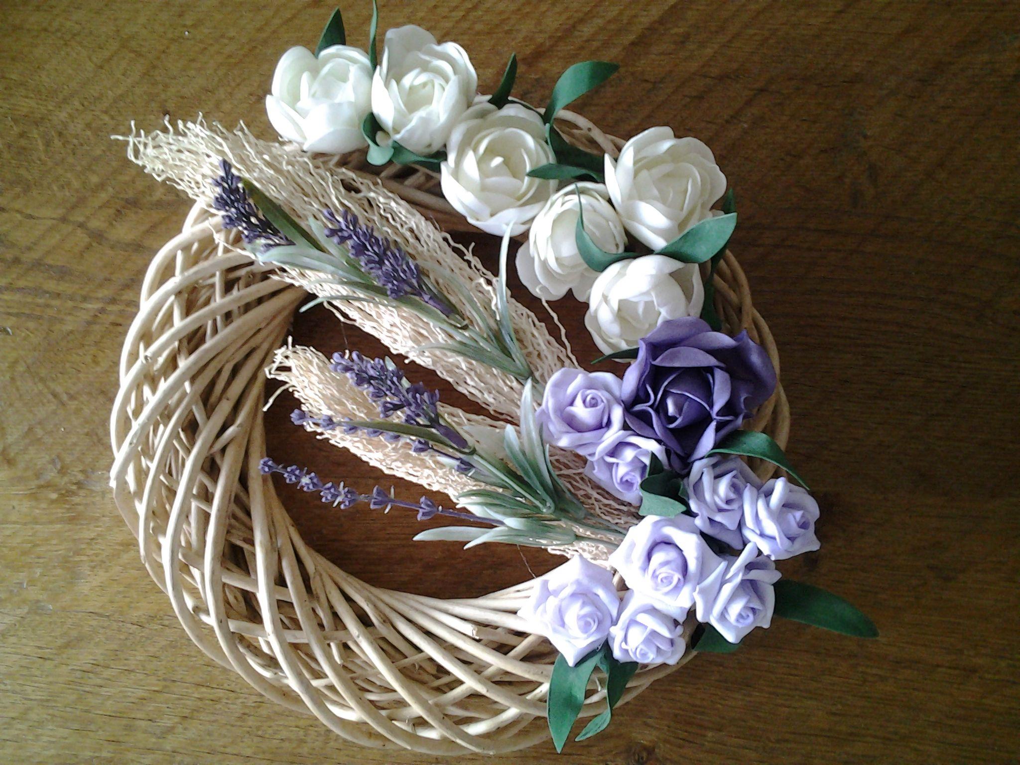 Krans wit paars