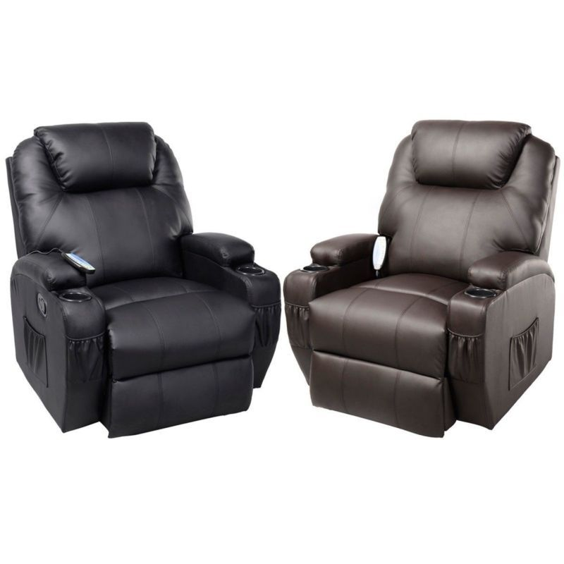 Ergonomic Heated Massage Recliner Sofa Chair Deluxe Lounge Executive