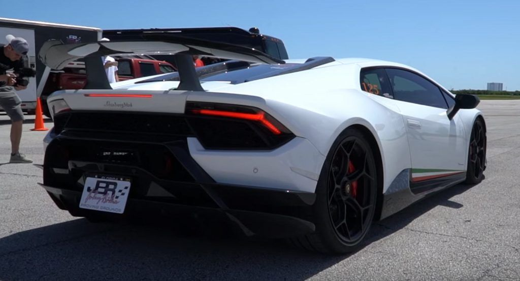 Supercharged Lamborghini Huracan Performante Is A Spoiler Away From Lift Off Carscoops Lamborghini Huracan Lamborghini Supercharger