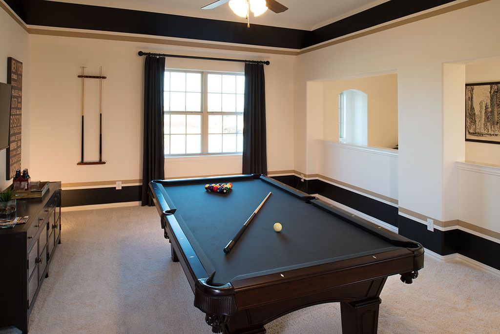 Highland Homes Harvest 60s Game Room Argyle Tx Plan 245 Game Room Game Room Decor Striped Accent Walls