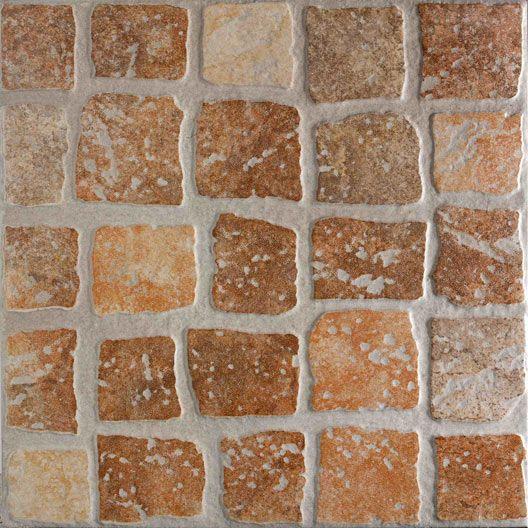 Carrelage extérieur Quadrotta en grès cérame émaillé, cotto, 35x35cm