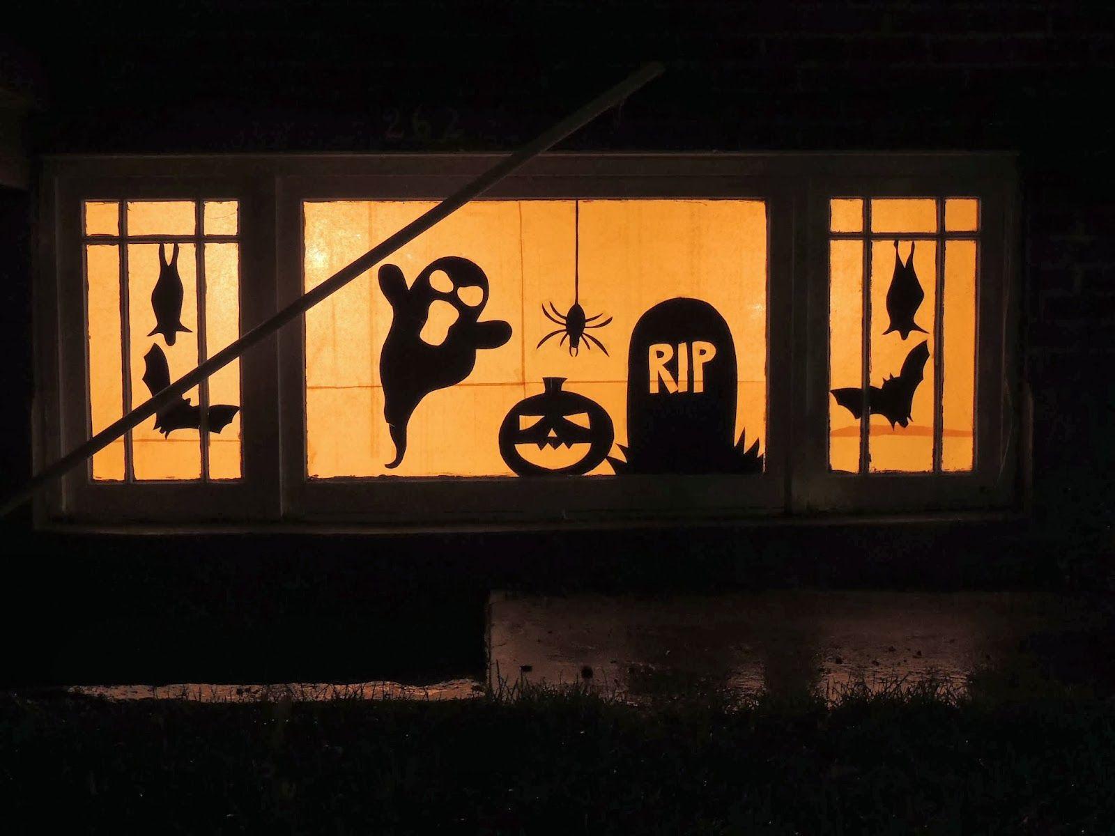 ventanas decoradas para halloween - Buscar con Google | Halloween ...