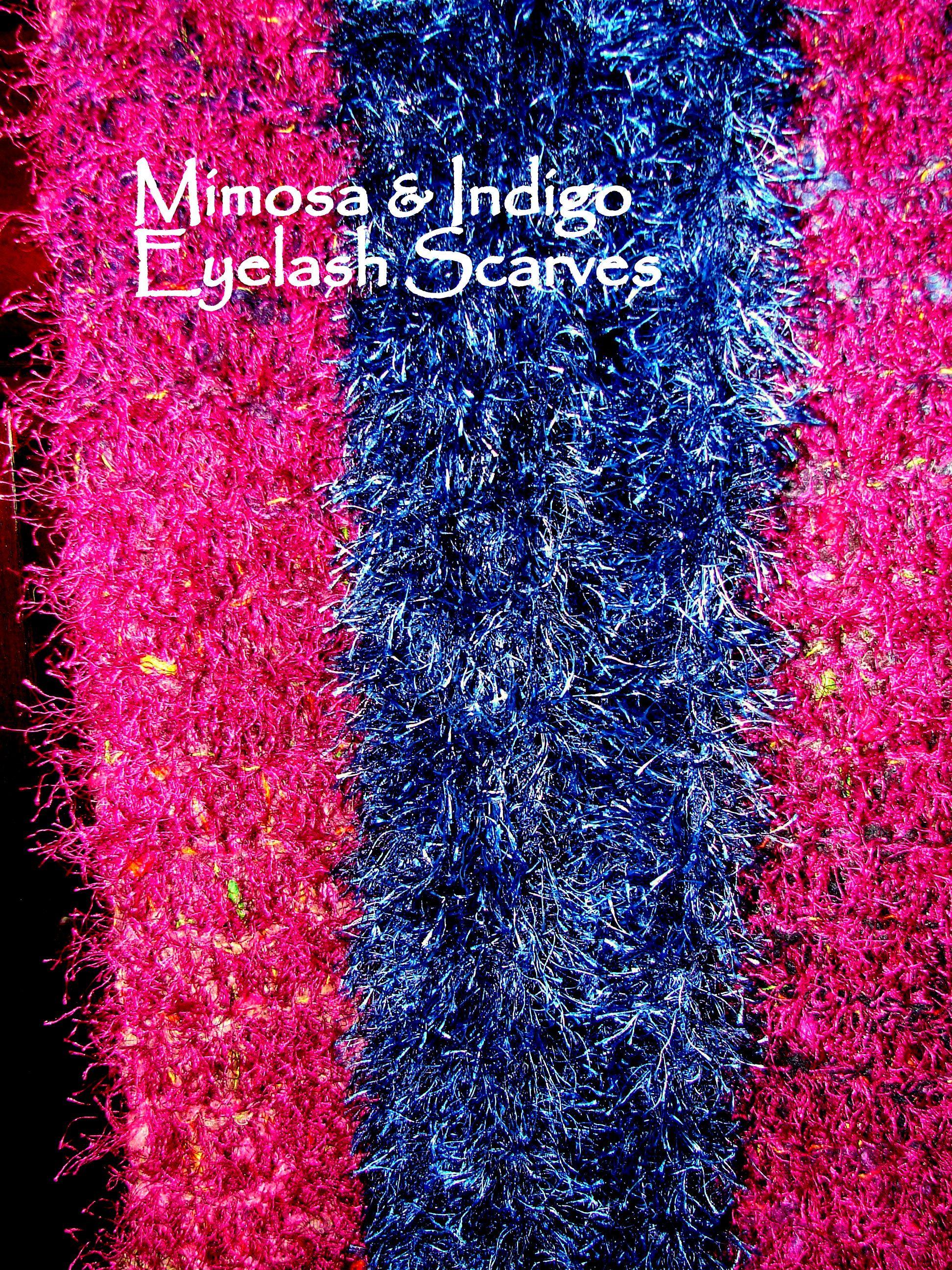 Indigo Eyelash, with Mimosa. Indigo is all novelty eyelash