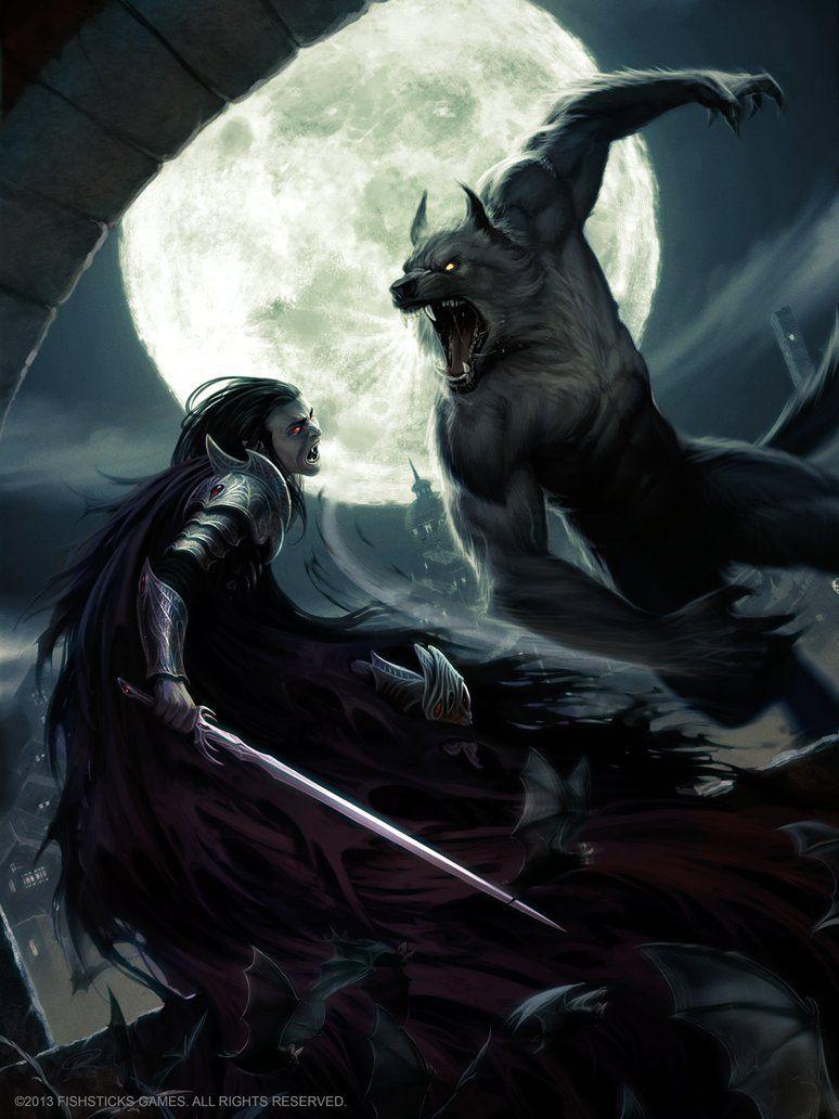 Lycan VS Vampire by Akeiron on DeviantArt | Werewolf ...