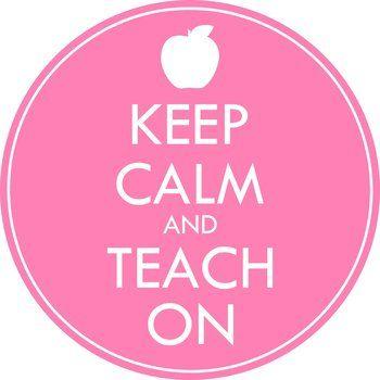 Keep Calm and Teach On Clip Art   Teaching, Teaching kids ... (350 x 350 Pixel)