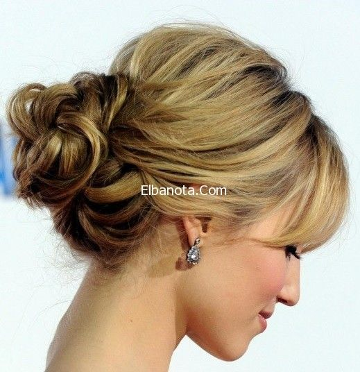 تسريحات شعر مرفوعه بالصور تسريحات شعر مرفوعه جديدة Updos For Medium Length Hair Medium Length Hair Styles Medium Hair Styles