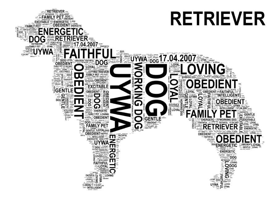 Dog Personalised Word Art Print