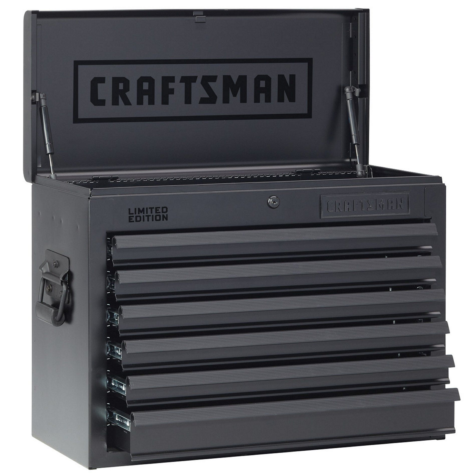 Craftsman 6 Drawer Rolling Cabinet Craftsman 26 In Wide 6 Drawer Heavy Duty Top Chest Flat Black