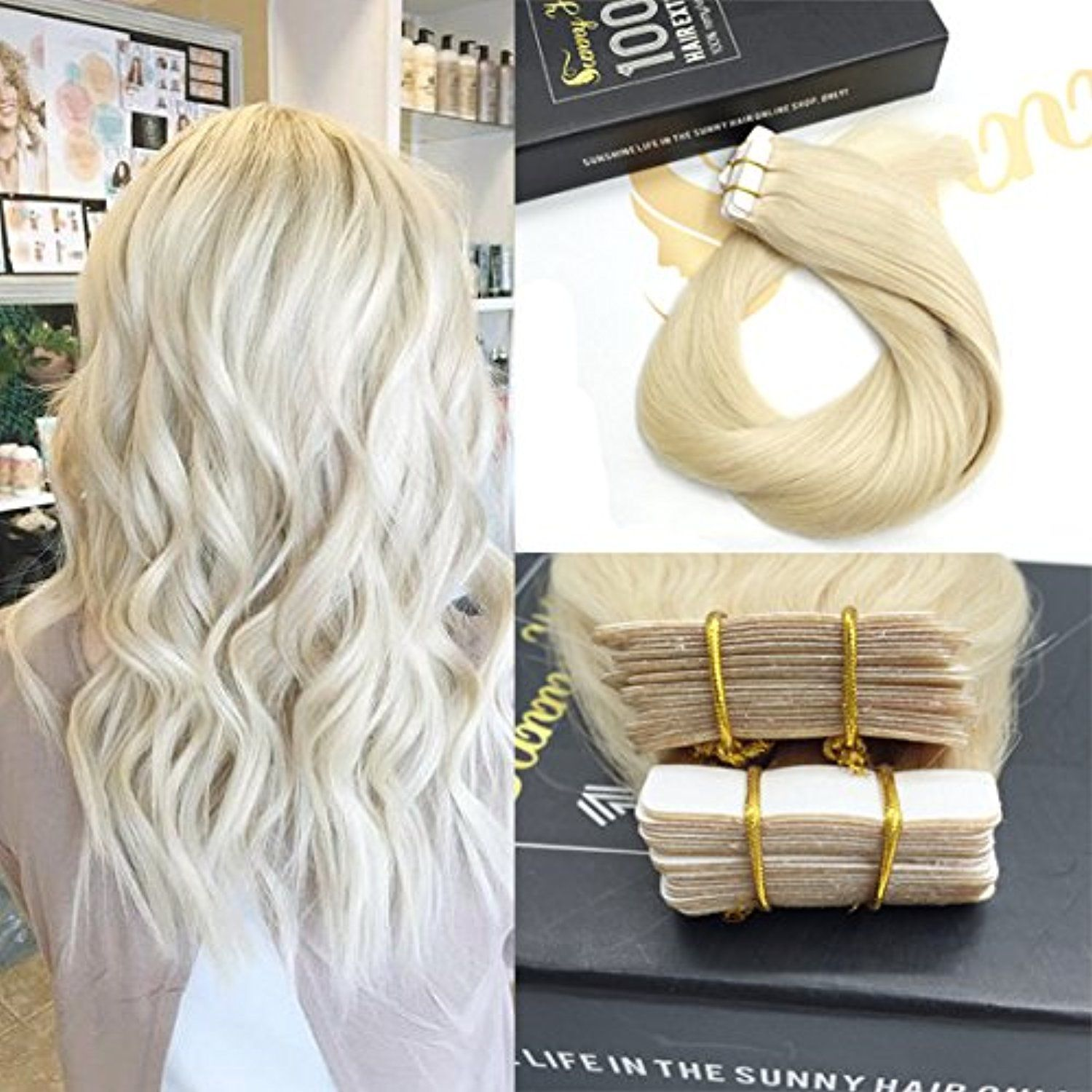 Sunny 40pcs 100g Per Set Tape In Hair Extensions Double Weft