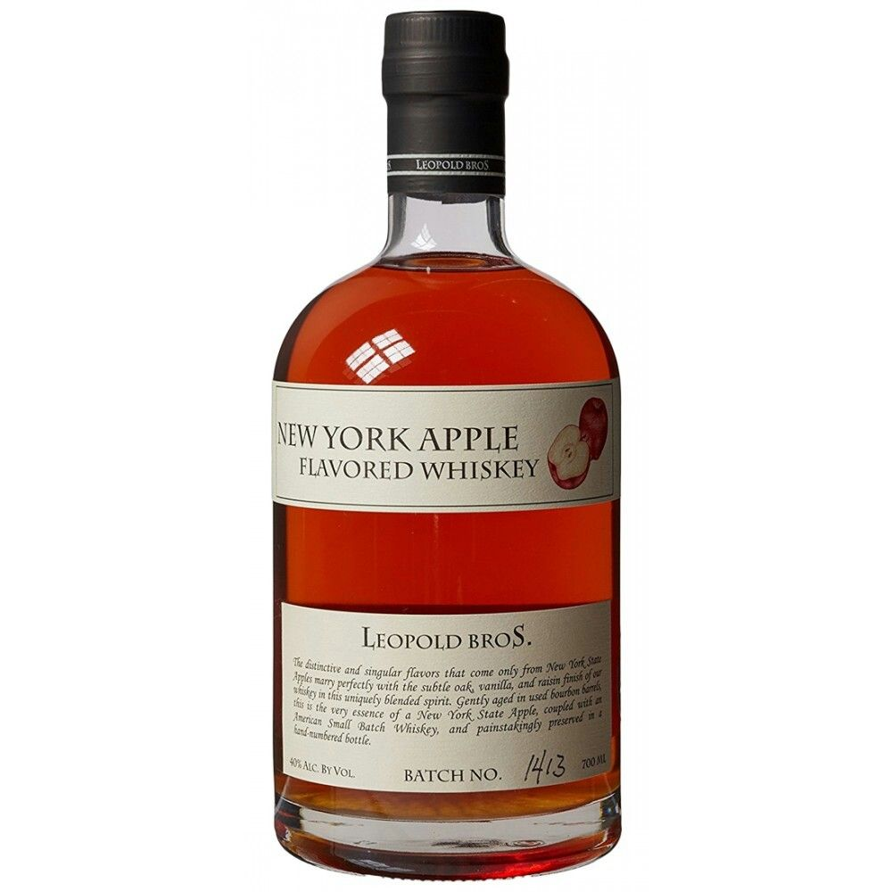 Leopold Bros New York Apple Flavored Whiskey Whiskey Bottle Design Wine Bottle