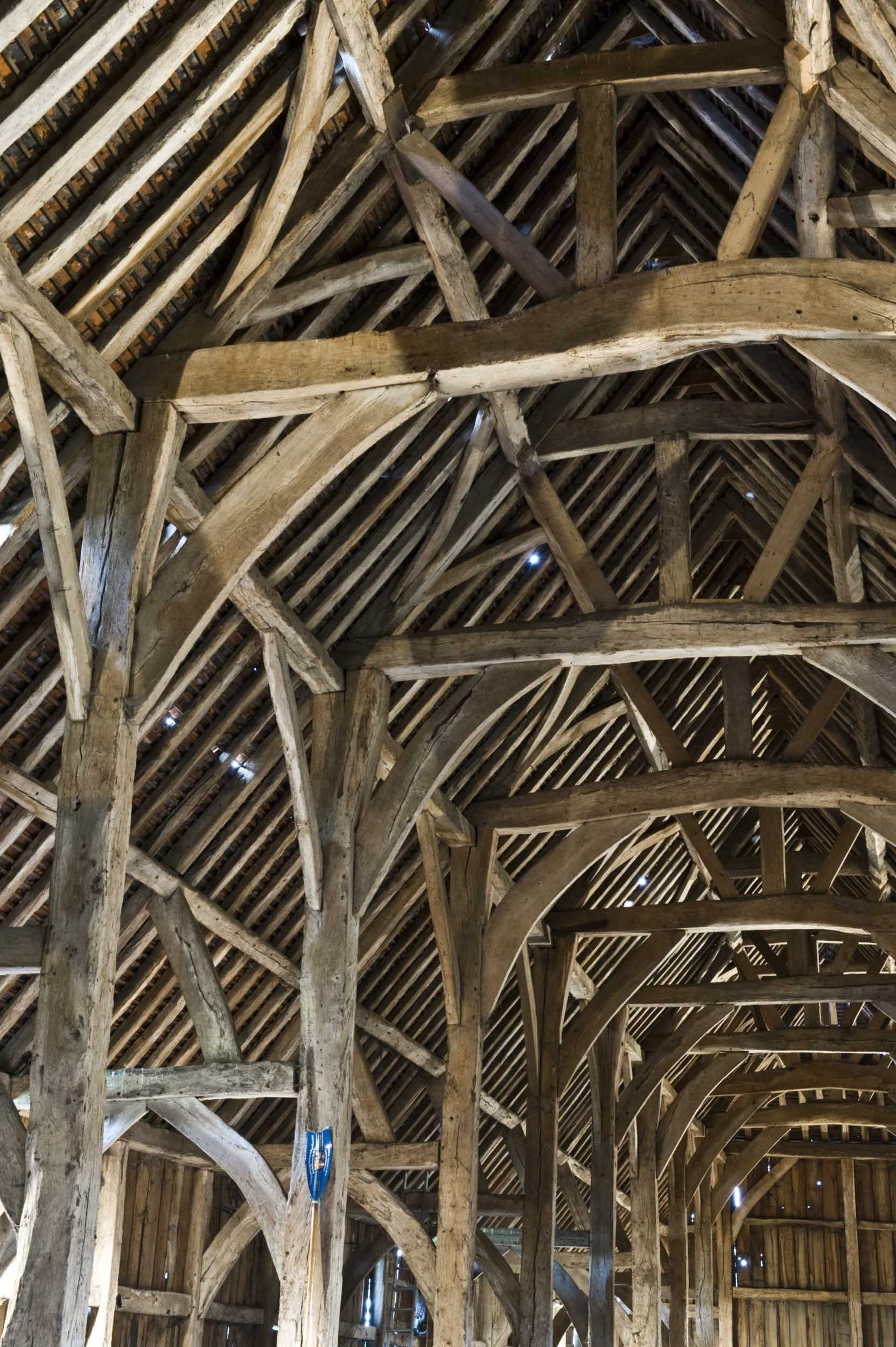 Harmondsworth Barn Interior Detail Barns Eric Sloane
