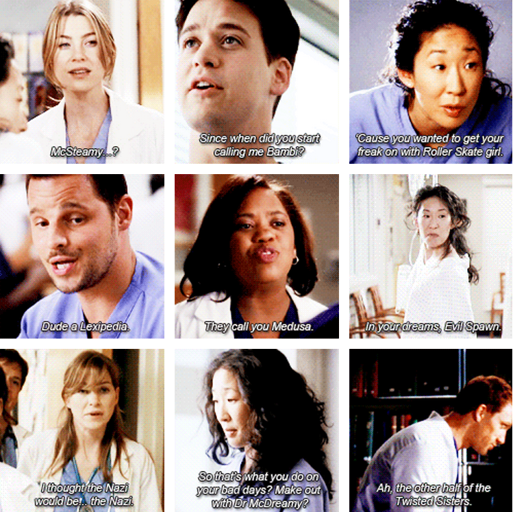 Grey's nicknames. I so love this!!!