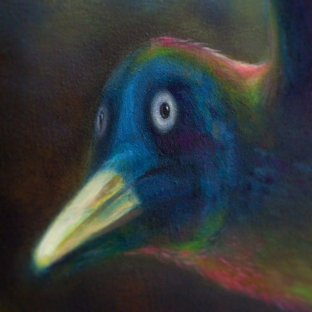 Detail of a bird from the work 'The Continuum of Life'