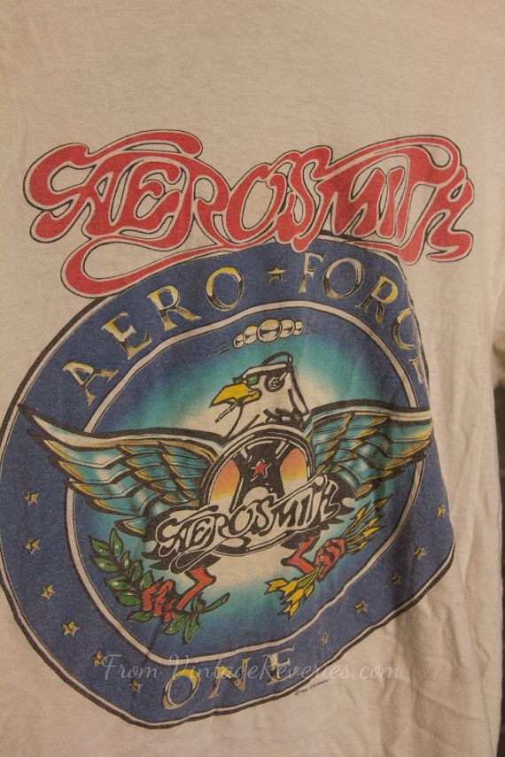1988 Aerosmith Aeroforce One Tshirt Permanent By Vintagereveries