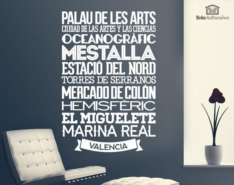 Vinilos Decorativos Mallorca.Vinilo Decorativo Tipografico De Valencia Lista De Los 10