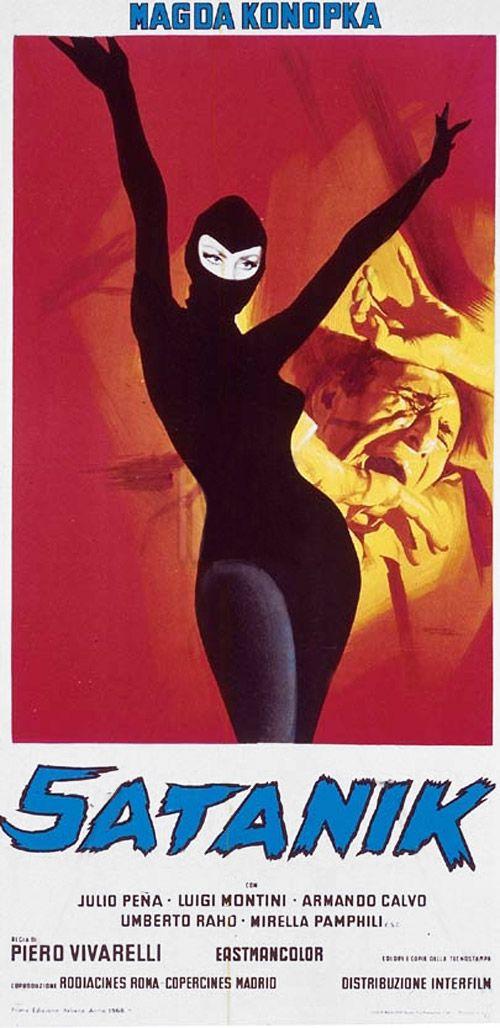 Satanik (1968) Italian locandina, film starring the lovely Magda Konopka