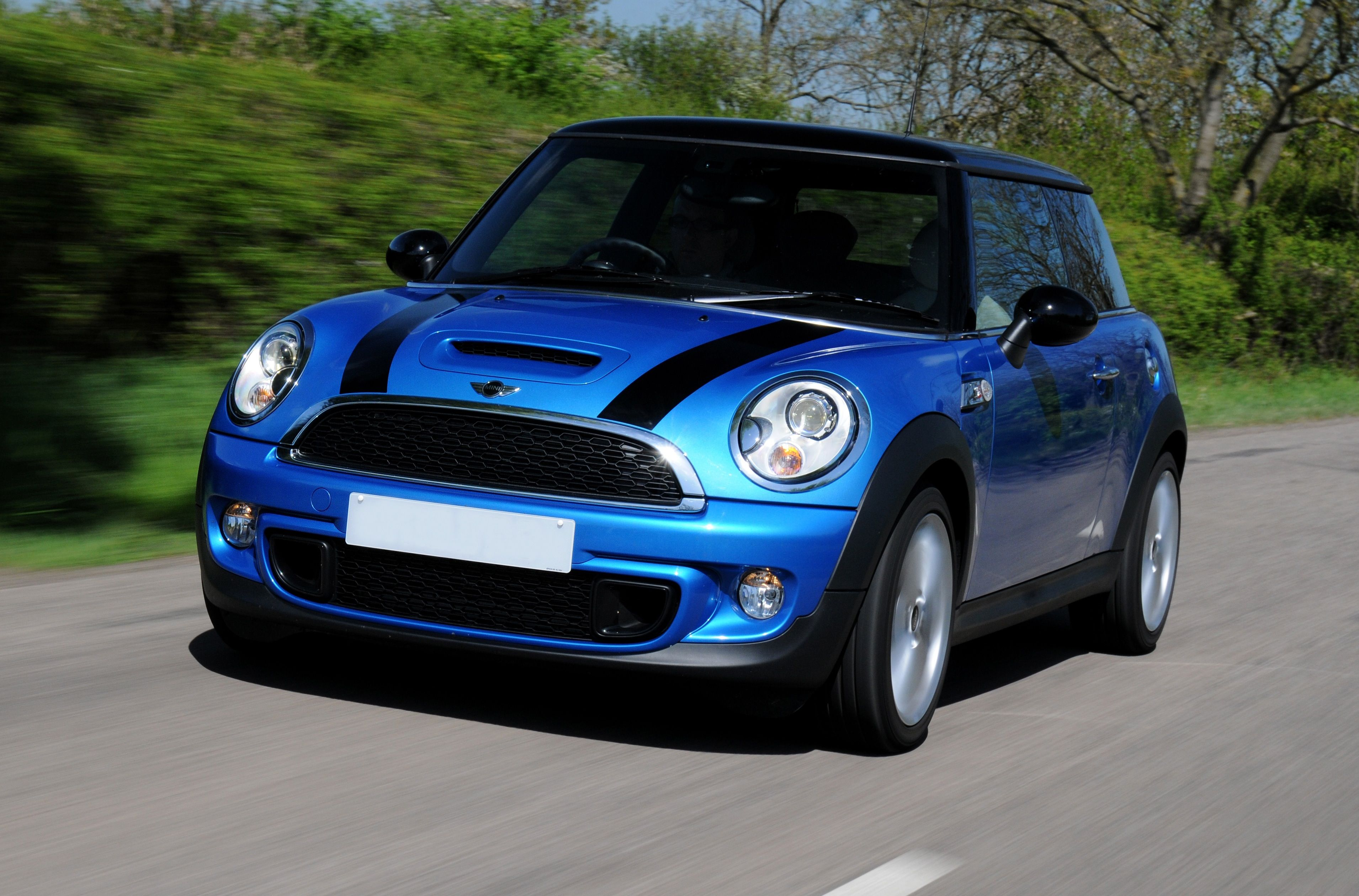 Mini Cooper Blue With Black Stripes Stunning Colour Dream Car