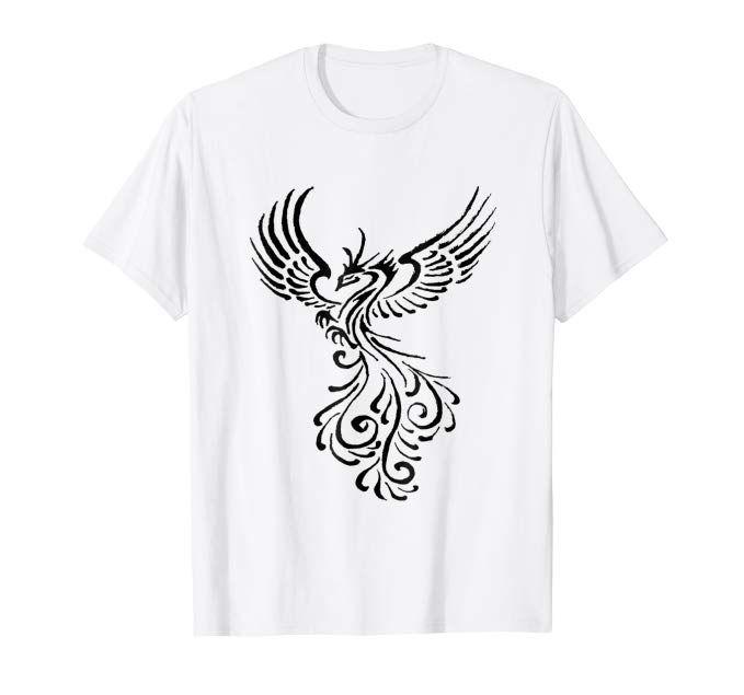 bc2ba2f8b Rebirth Of The Phoenix Tribal Tattoo Design #phoenix #tshirt #amazon #podsms
