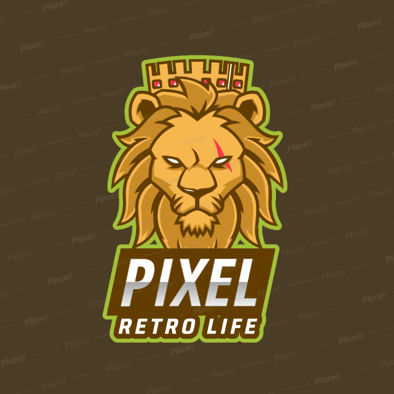 Logo Generator for a Gaming Squad Featuring a Royal Lion