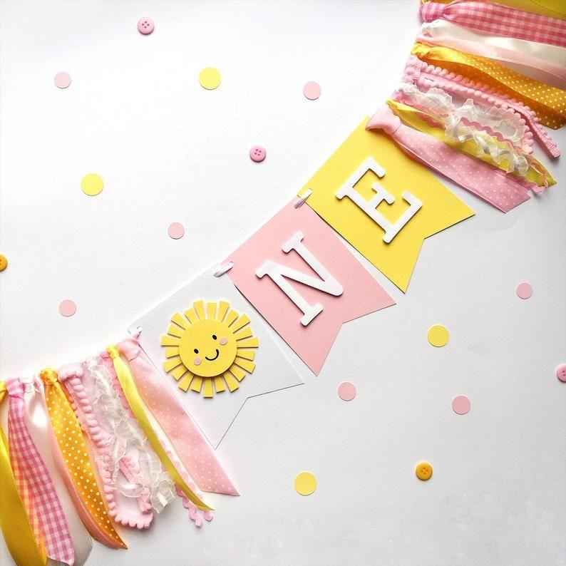 SWEET SUNSHINE Highchair Banner 1st Birthday Party