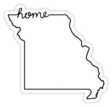 Missouri Home State Outline Sticker In 2021 State Outline Home Tattoo Vinyl Projects