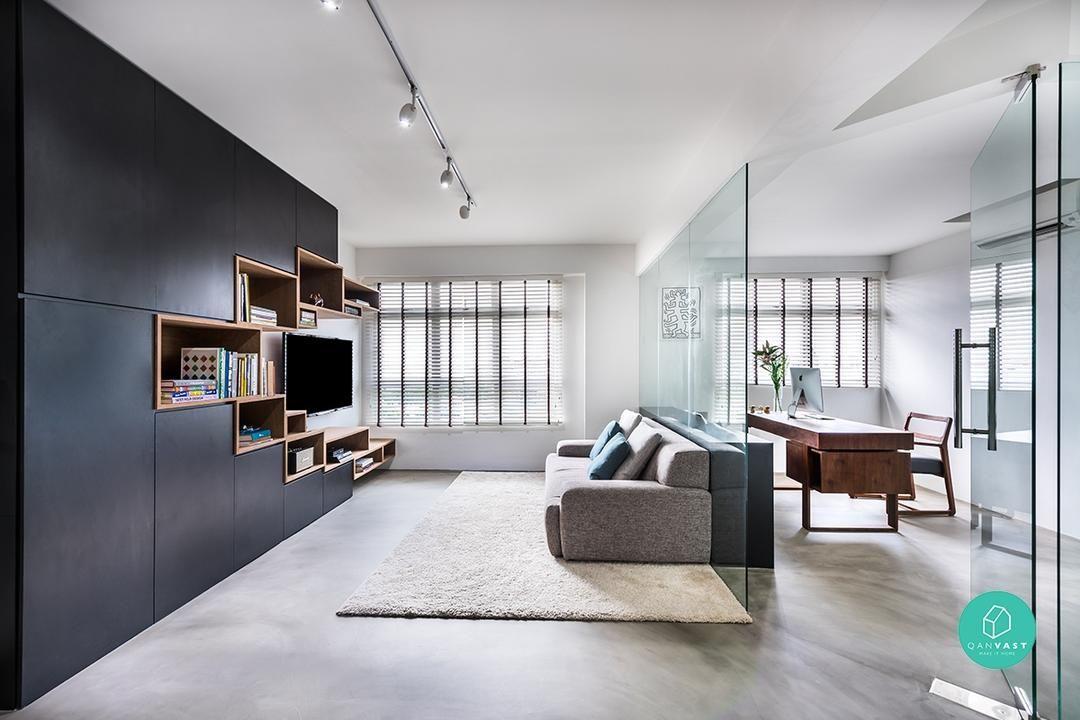 10 Open Concept Designs For Your Future Flexi Hdb Flat Interior Interior Design Home