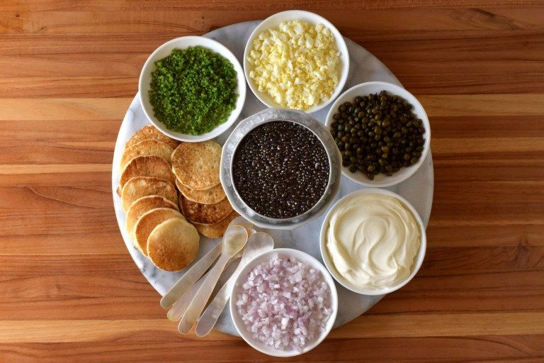 How to Serve Caviar at Your Party Center of the Plate