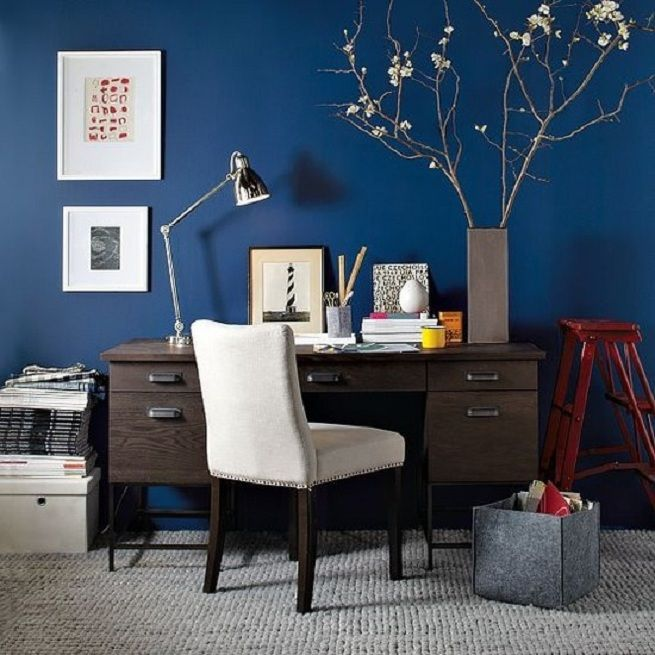 warm paint colors for home office blue home offices on blue office color id=81485