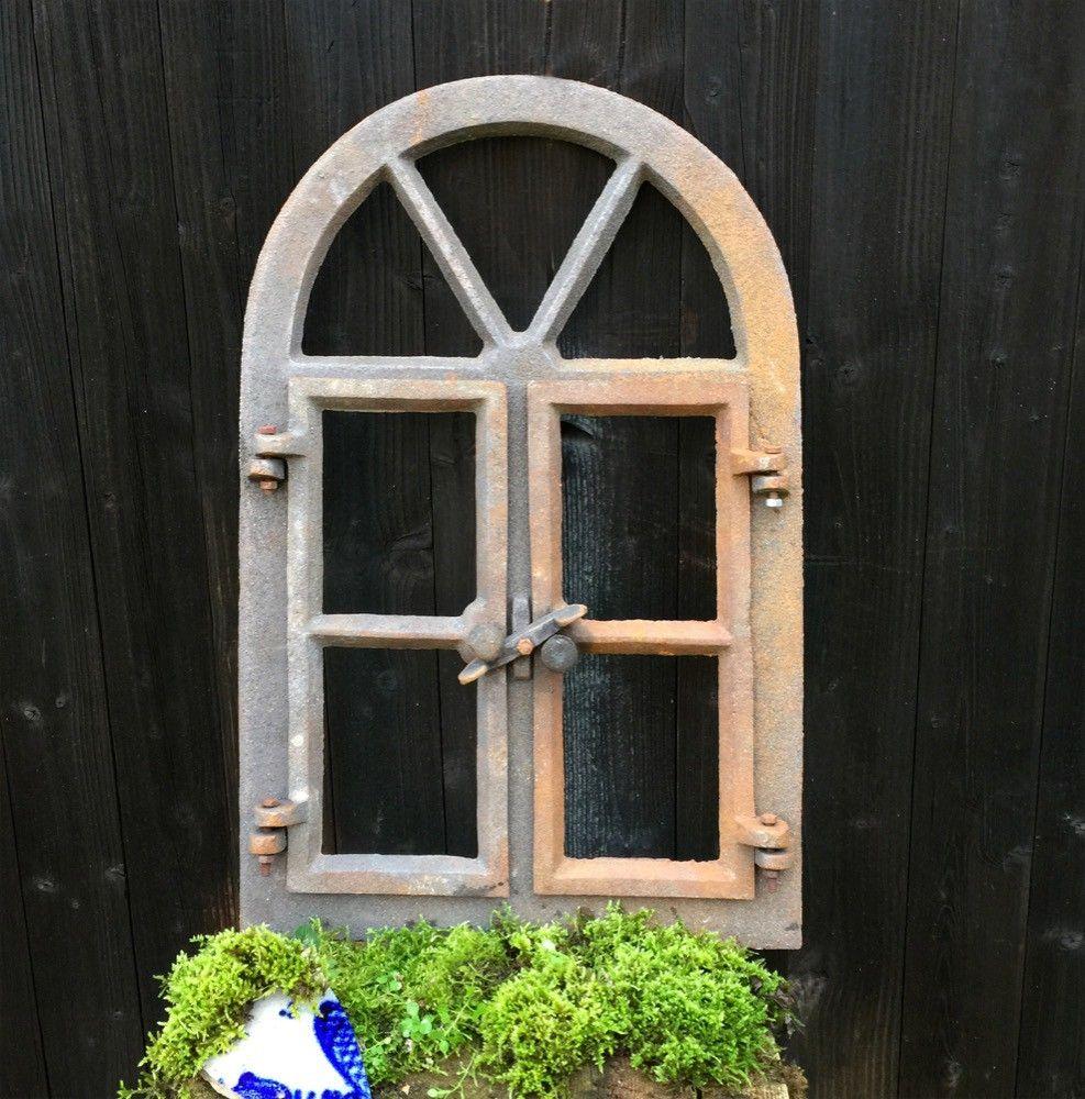 Stall und Gartenmauer Stallfenster Rundbogen aus Eisen für Haus Eisenfenster