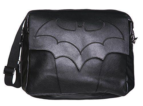 Black PU Batman Arkham Knight Messenger Bag *** Click image to review more details.