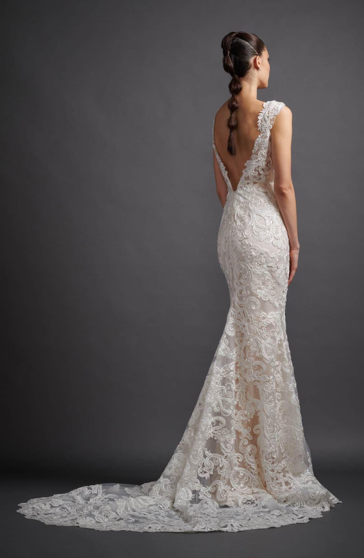 Lazaro Lucia Mikado Soutache Lace Trumpet Wedding Dress Nordstrom Lazaro Wedding Dress Trumpet Wedding Dress Lace Lazaro Bridal Gown