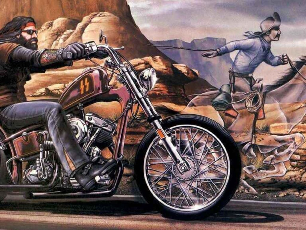 David Mann Ghost Rider Painting The Garage David Mann Art