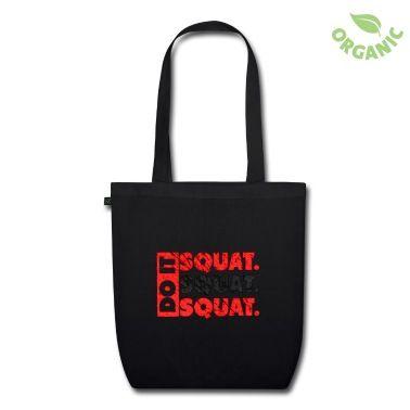 Amerikansk Fitness og Motivation Citat: Do It. Squat.Squat.Squat | Vintage Style. Få alle og dig motiveret med denne høje kvalitet design. Motiverende Fitness Sportsgear af © Fitbys.com