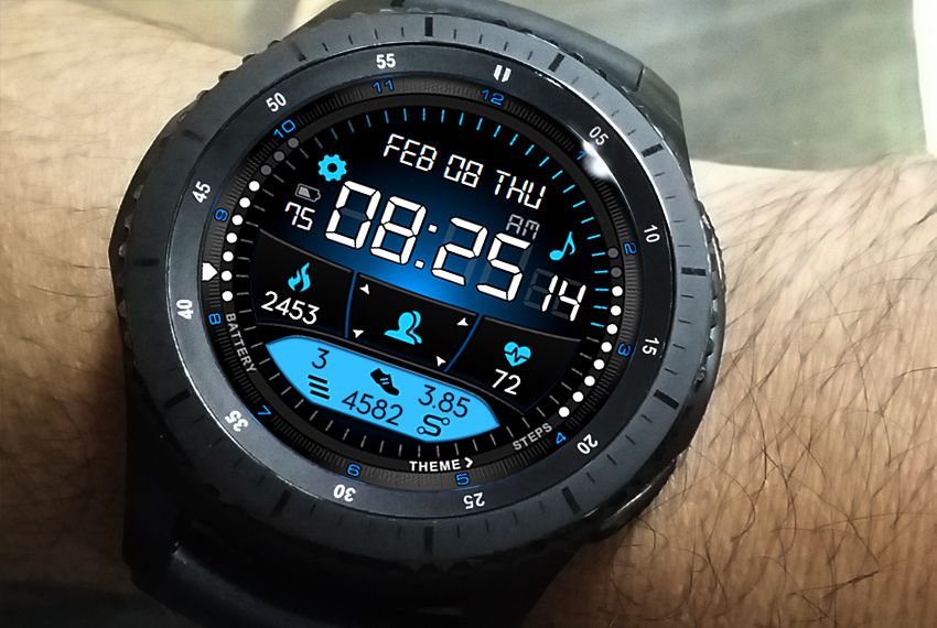 12/24 Hyperspace Next watch face for Samsung Gear S3, Gear