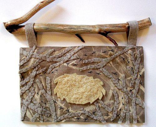 Fiber arts piece from Whole Cloth Designs blog | Craft Juice