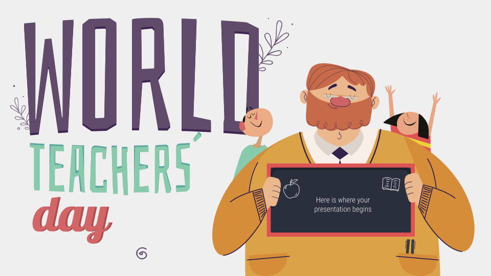 Celebrate World Teachers Day Using This Free Customizable Presentation Template In 2020 World Teachers World Teacher Day Teachers Day