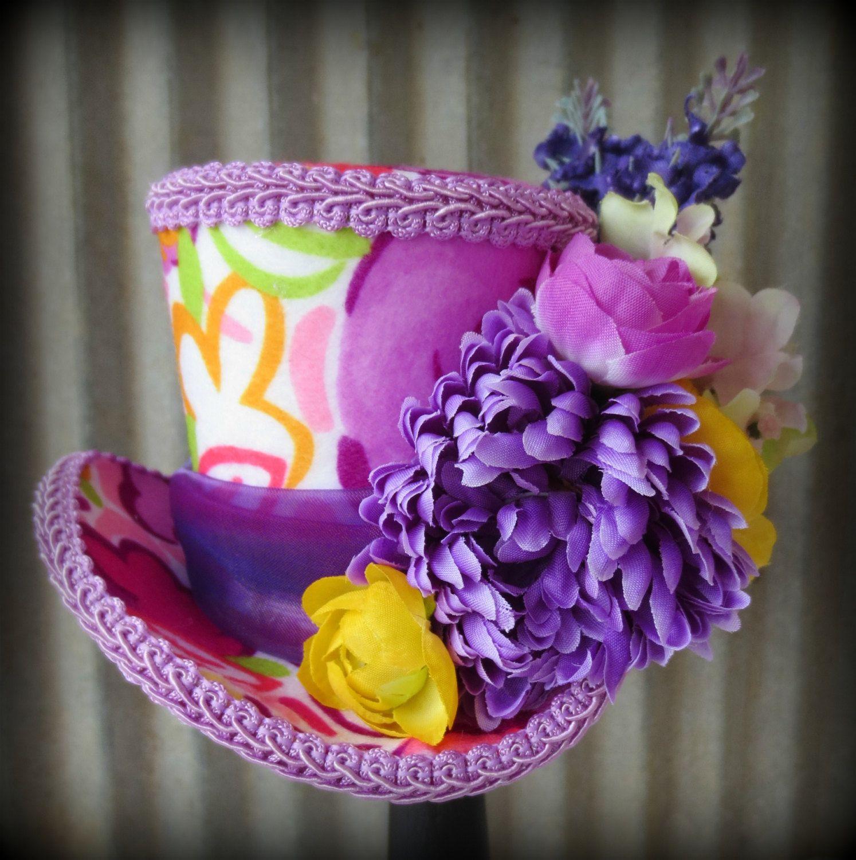 Flower Explosion Easter, Valentine\'s Day Mini Top Hat, Flower girl ...