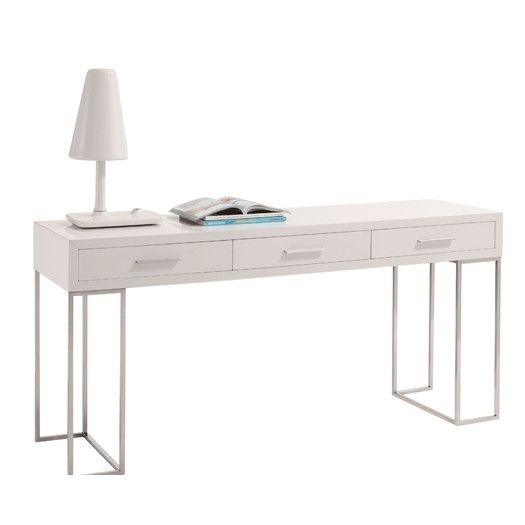 Features:  Constructed Using Wood Veneer.  White High Gloss Finish. Top  Finish