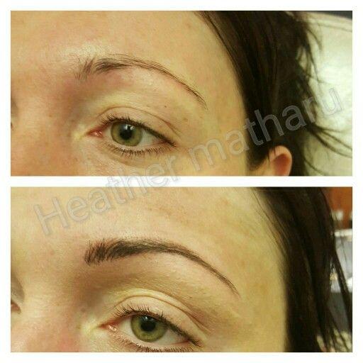 Natural hairstroke eyebrows Based in Stoke-on-Trent  07539830730