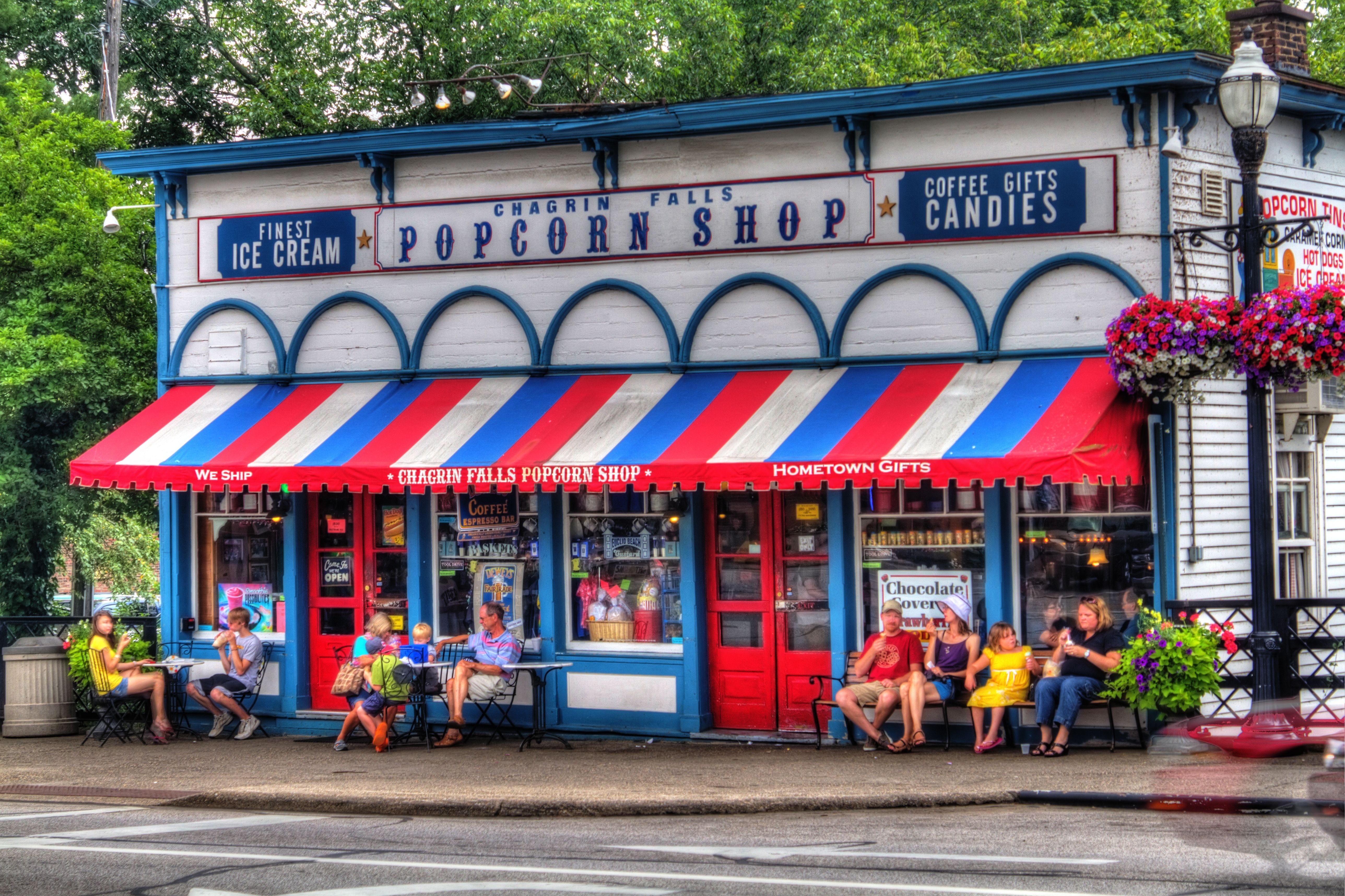 Chagrin Falls Popcorn Shop Chagrin Ohio Gregory I Stopped Here